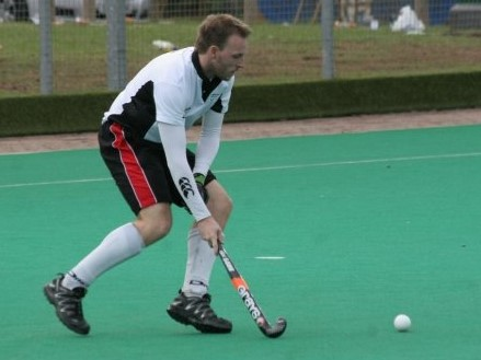 Neil Hawksworth playing hockey
